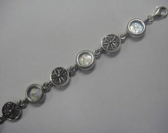Elegant 925 Sterling Silver Bracelet, Ancient Roman Glass Bracelet, Unique Jewelry, Roman Glass Jewelry