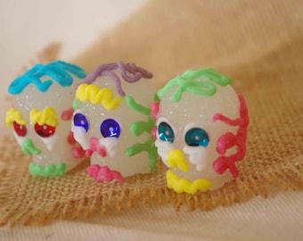 Skulls of sugar craft Mexican mini size