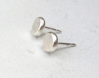 Silver sterling Studs,  Recycled 925 sterling silver earrings ,handmade silver studs, Gift for her, birthday gift, silver sterling earrings