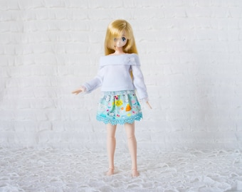 Long sleeved shirt for azone pureneemo and blythe dolls