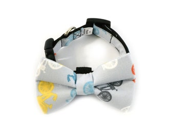 Bicycle Dog Bow Tie Collar