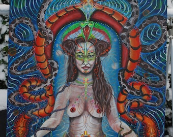 Snake Goddess A0 (118cm/84cm)poster,limited edition print from my original art