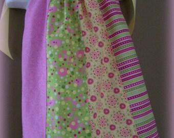 Cupcake Swirl Girl, Toddler, Pillowcase Dress RTS Size 18-24 Month Pink, Lime Green, Yellow Satin Ribbon
