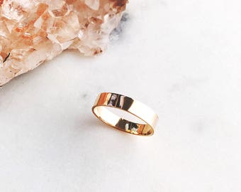 Koa Ring - thick gold ring, thick stack ring, stacking ring, stacking gold ring, minimalist gold filled ring, gold filled stack ring,hawaii