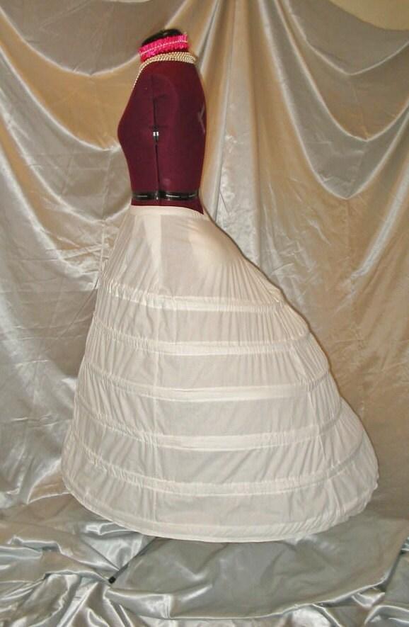Wedding Gown Cage Crinoline with Train Support Victorian Civil War ...