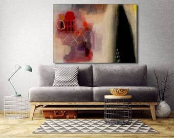 Large painting abstract geometric shapes made to order