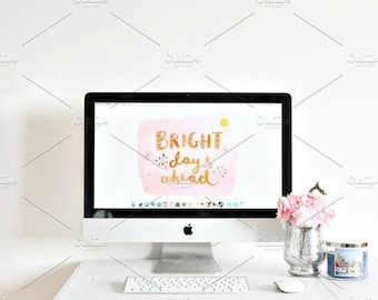 Styled Stock Photo | Bright & Happy Office | Blog stock photo, stock image, stock photography, blog photography