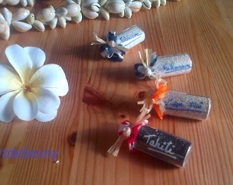 Magnets sand from Tahiti and the Islands to choose - refrigerator magnets