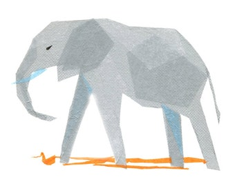 Andrew Elephant - Animal Art Print