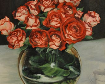 Custom Made Painting of Flowers -- Floral Painting -- made to order painting