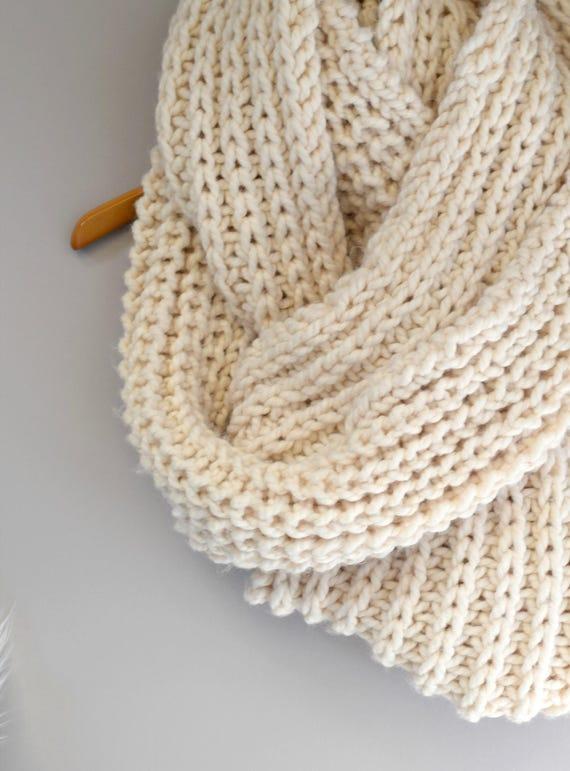 Big Knit Scarf Oversized Knit Scarf Pattern Easy Knit Scarf