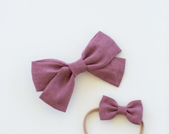 Headbands and Bows- The Back to School Sister Collection | Antique Plum bow or headband