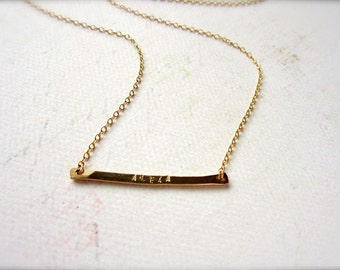 Custom Tiny Name Necklace - name necklace, gold name necklace, silver name necklace, name bar necklace, baby name necklace