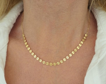 Gold Sequin Necklace + Silver Sequin Necklace + Gold Disc Necklace + Silver Disc Necklace + Gold Coin Necklace + Multi Disc Necklace + M3