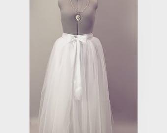 White Tulle Wedding Skirt/Tutu Aline Separates Modern Bridal