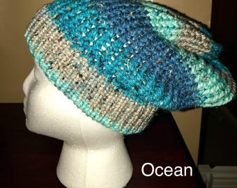 Ocean Tweed Knitted Hat