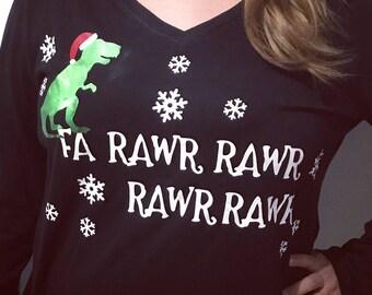 Fa Rawr Rawr Christmas Shirt