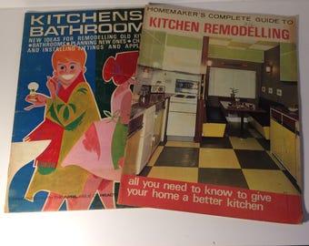 Vintage Kitchen, Vintage Bathroom, DIY Gift, Midcentury Magazine, Vintage Magazine, Interior Design, 1960s, Home Decor