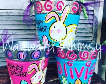 Personalized EASTER Pails Buckets