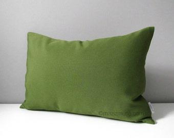 Olive Green Outdoor Pillow Cover, Decorative Throw Pillow Cover, Modern Pillow Cover, Green Cushion Cover, Palm Green Sunbrella, Mazizmuse