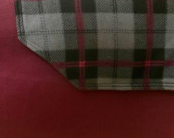 Black Gray Burgundy Plaid Throw Blanket