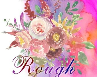 Watercolor flower clipart - Rough -