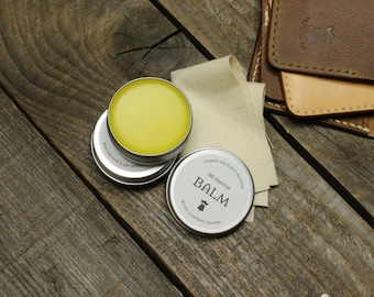 Leather conditioner, Leather Balm, Handmade leather salve, Natural
