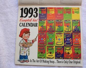 1993 Campbell Soup Kids Calendar