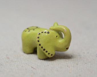 Hand Sculpted  Clay Elephant