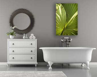 Palm Leaf Photo Print, Palm Art Print, Spa Art, Bathroom Decor, Spa