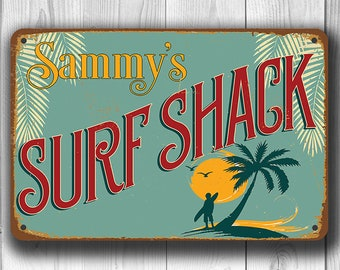 CUSTOM SURF SHACK Sign, Surf Shack Signs, Vintage style Surf Shack Sign, Surf Shack, Surfing Signs, Surf Decor, Surfing Decor, Surf Art,