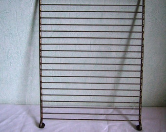 Cooling rack metal wire vintage French birdcage cake holder, grid wire cake rack, 12 ""