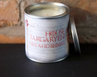 House Targaryen Game of Throne scented candle
