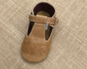 Baby Toddler Girl Tbar Mary Jane Leather soft sole shoes