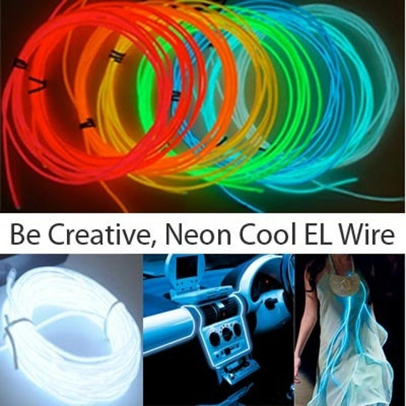 10ft El Wire Sound Activated 3-mode Neon EL Wire Kits. Up to