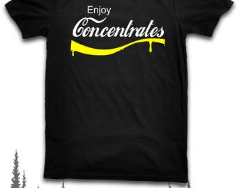 Enjoy Concentrates Parody Meme Funny T Shirt