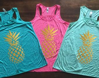 Golden Pineapple Tank Top