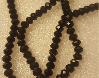 1 strand black Crystal rondelle 4x6 mm about 100 pieces