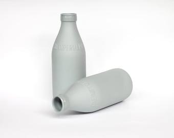 porcelain replica vintage milk bottle (concrete)