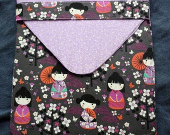 Tablet Case - Oriental Girls with Cherry Blossoms