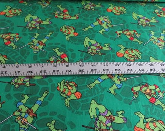 Turtles Cotton Fabric - Mutated in 1984 - Springs Creative - sold by the yard