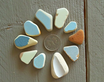 Craft Sea Pottery Shards Ceramic Mosaic Tiles Beach Pottery Bulk Genuine Beach Finds For Mosaic Making Mix Color Sea Pottery Pieces