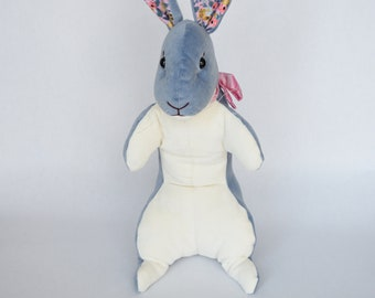 Spring Bunny Rabbit in Grey Blue