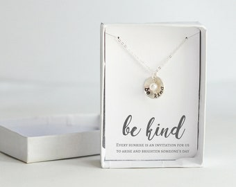 Be Kind Necklace - Mantra Necklace Women - Inspirational Jewelry for Women - Motivational Gifts for Women - Inspirational Quotes Necklaces