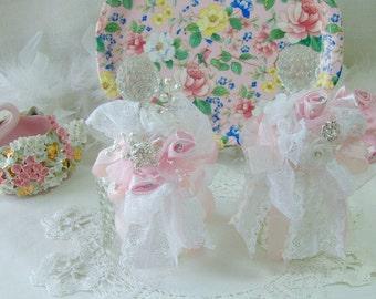 Vintage Hobnail Perfume Bottle, Clear Glass Perfume Bottle, Fenton, Bridal Gift, Victorian, Chic, Cottage,