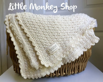 Crochet Baby Blanket PATTERN - Pure and Simple - Baby Blanket  -  Easy