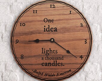 Popular Inspirational Quotes - Popular Motivational Quotes - One Idea Lights a Thousand Candles Quote - Ralph Waldo Emerson