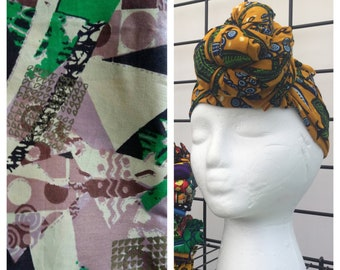 HEAD WRAP african wax print -- Claire