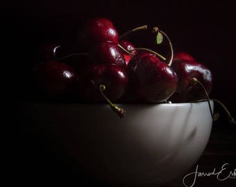 Cherries - Food Photography, Wall Art, Home Decor, Kitchen Decor