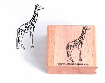 Stamp giraffe, safari, 40 mm